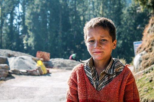 India, Kids, Portrait, Boy, Asian, Culture, Happy