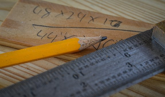 Pencil, Ruler, Woodworking, Drawing, Write, Tool