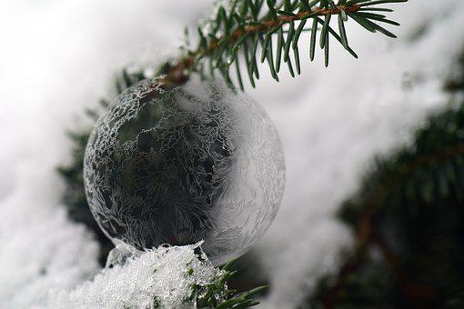 Ball, Ice Ball, Frosty, Frozen, Soap Bubble