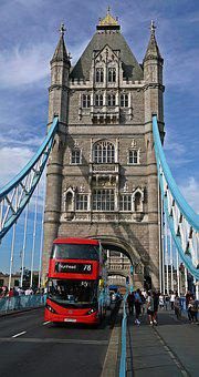 London, Tower, Bridge, Red, Bus, Landmark, City