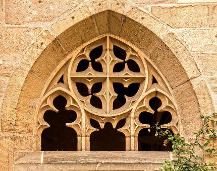 Monastery, Monastery Window, Architecture, Middle Ages