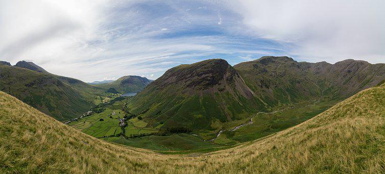 Lake District, Panorama, Mountain, Tourism, Scenery
