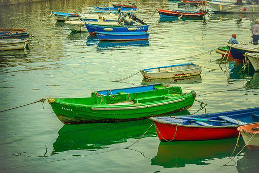 Boat, Sea, Castro Urdiales, Cantabria, Spain, Marine