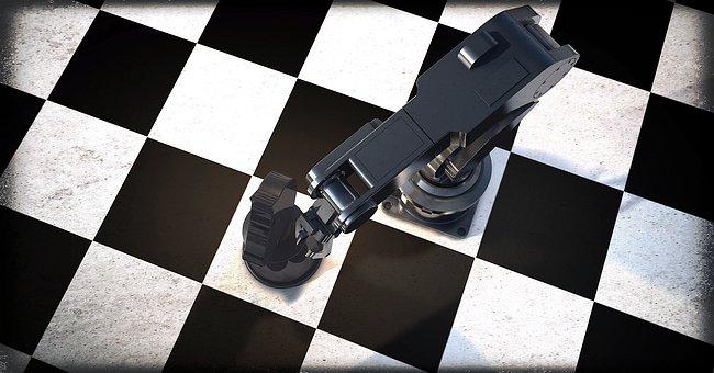 Robot, Robot Arm, Chess, Horse, Springer, Simulation