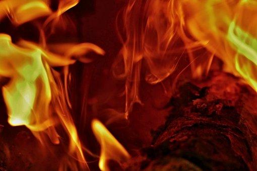 Burning, Wood, The Flames, The Stove, Smoke