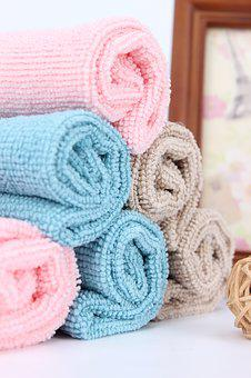 Towel, Stack Of Towels, Box, Photo, Background