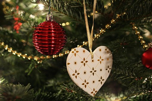 Tree Decorations, Christmas Ornament, Heart, Christmas
