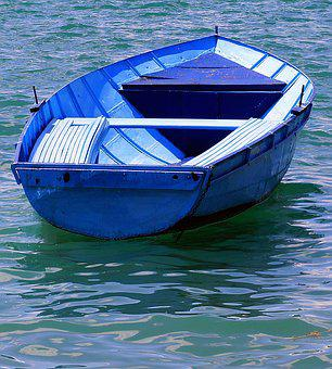 Boat, Blue, Pleasure, Water, Fishing