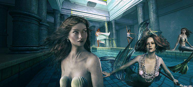Mermaids, Women, Mermaid, Woman, Female, Water