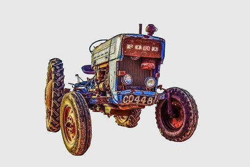 Tractor, Old, Antique, Agriculture, Machinery, Rural