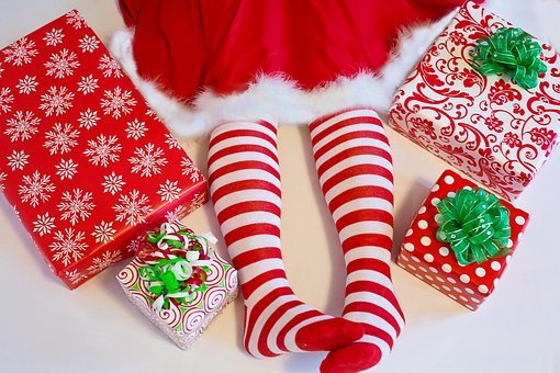 Santa's Elf, Presents, Gifts, Christmas, Wrapping Gifts
