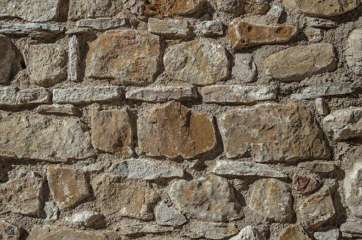 Wall, Stone, Rustic, Old, Craftsman, Construction