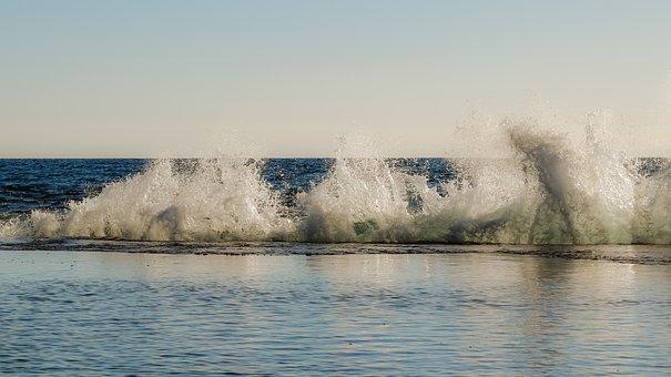 Wave, Crushing, Spray, Water, Drops, Splash, Liquid