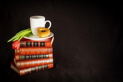 Book, Read, Old Books, Tee, Books, Cup, Enjoy, Tulip