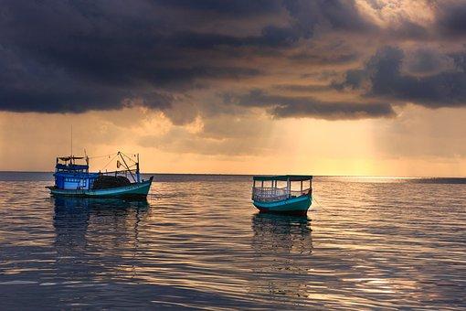 Sunset, Dawn, Pier, Breakwater, Knife, Phu Quoc