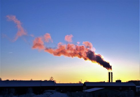 Smoke, Chimney, Exhaust, Sunset, Himmel, Factory