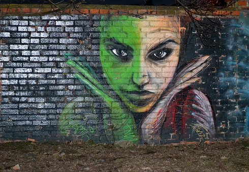 Modern Art, Street Art, Girl