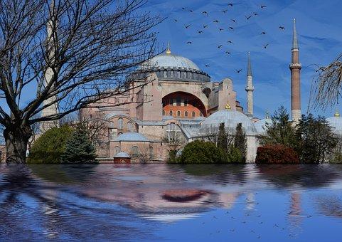 Istanbul, Hagia Sophia, Sultanahmet, Landscape