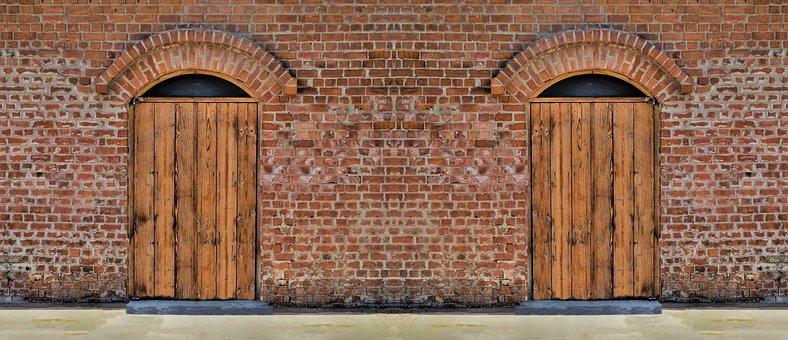 Door, Factory, Old Factory, Industry
