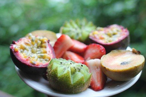 Fruit, Kiwi, Passion Fruit, Strawberries, Tropical