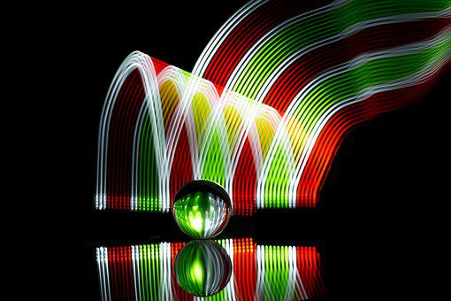 Christmas Colors, Crystal Ball, Lights, Christmas