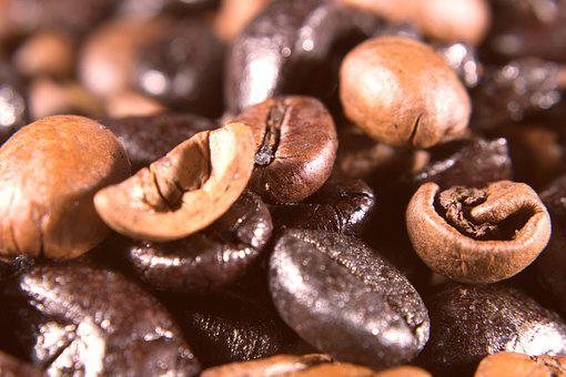 Coffee, Beans, Coffee Beans, Roasting, Macro, Close