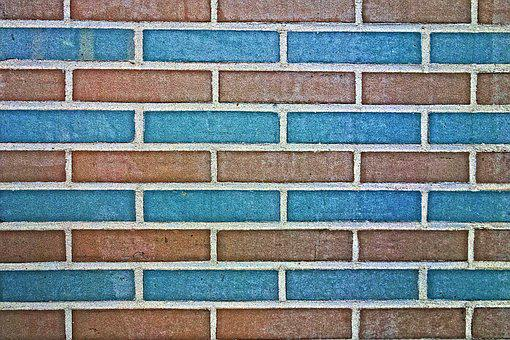 Brick Wall, Wall, Blue Brick Wall, Masonry