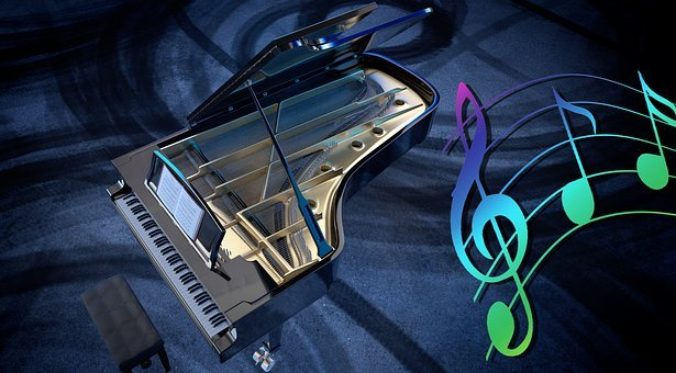 Piano, Wing, Music, Keys, Classic, Instrument