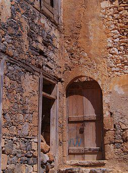 Greece, Crete, Spinalonga, Place, Buildings, Landscapes