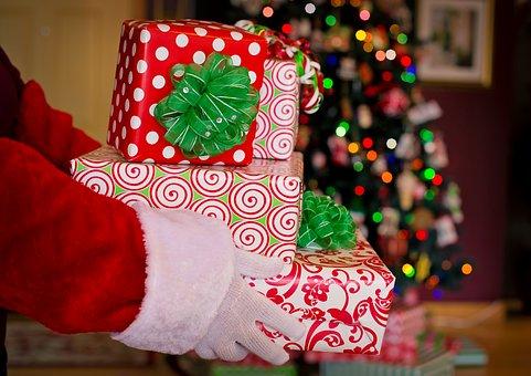 Santa Claus, Santa, Gifts, Presents, Christmas