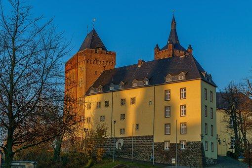 Kleve, Swan Castle, Abendstimmung, Niederrhein, Home