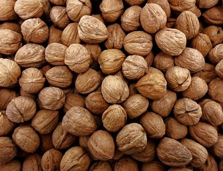 Walnuts, Market, Texture, Background, Food, Nut