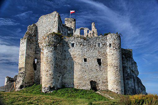 Mirow, Castle, Monument, Poland, The Ruins Of The
