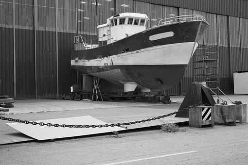 Boat, Trawler, Shipyard, Browse, Sea, Fishing, Maritime