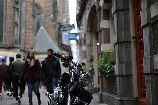 Motorbike, Outside, Amsterdam, Drive, Bike, Vehicle