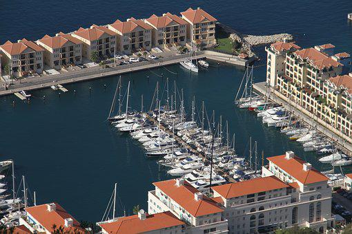 Marina, Gibraltar, Port, British, Harbor, Yacht