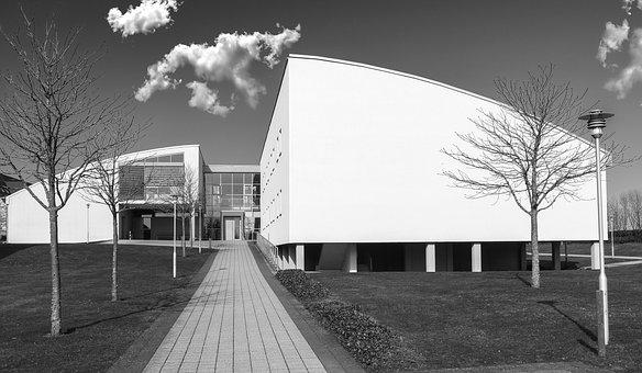 Architecture, Modern, Black And White, Futuristic