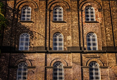 Home, Facade, Architecture, Brick, Window, Round Arch