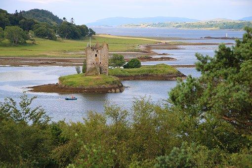 Scotland, Stalker Castle, Landmark, Historical, Argyll