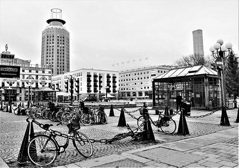 Square, Architecture, Buildings, Stockholm, Skyscraper