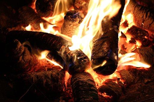 Fire, Flame, Wood, Burn, Heat, Bright