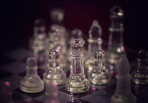 Chess, Glass, Chess Pieces, Chess Game, Chess Board