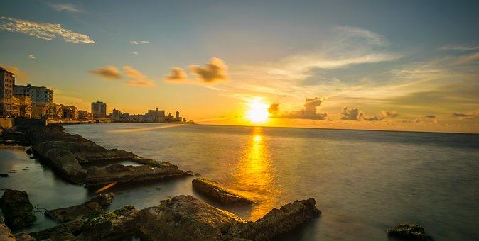 Havana, Cuba, Cuban, Old Town, Blue, Places Of Interest