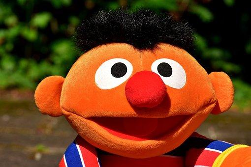 Ernie, Plush, Funny, Cute, Fun, Toys, Stuffed Animal