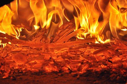 Hot, Flame, Fire, Night, Hell, Fireplace, Burn, Light