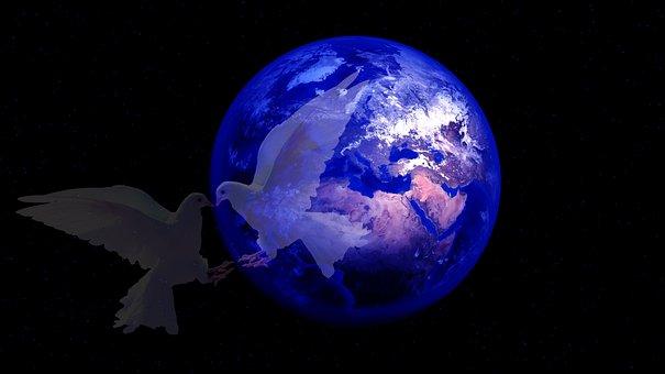 Earth, Harmony, Dove, Globe, Galaxy, Live, Cosmos
