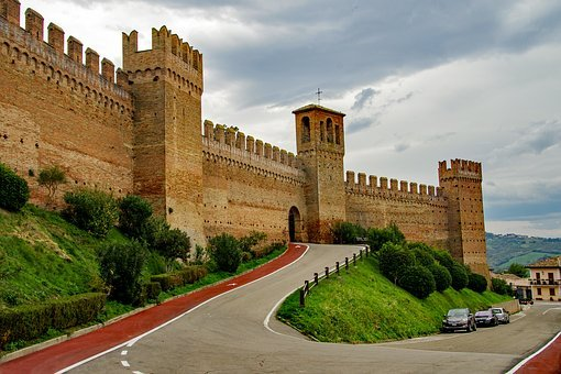 Gradara, The Walls, Fortress, Medieval, Walls, History