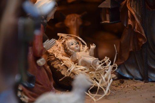 Jesus Child, Crib, Christmas, Kids, Jesus, Nativity
