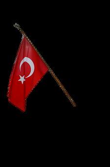 Turkish Flag, Turkey, English, Flag, Moon And Star