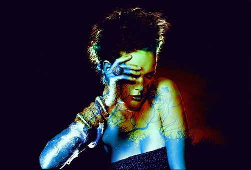 People, Dark, Performance, Artistic, Beautiful, Girl